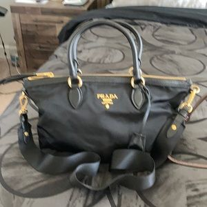 Prada Black Tessuto shoulder bag